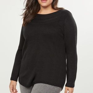 Lane Bryant-Pointelle Boatneck Sweater-18/20&22/24